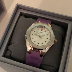 Michele Tahitian Jelly Bean Watch -purple